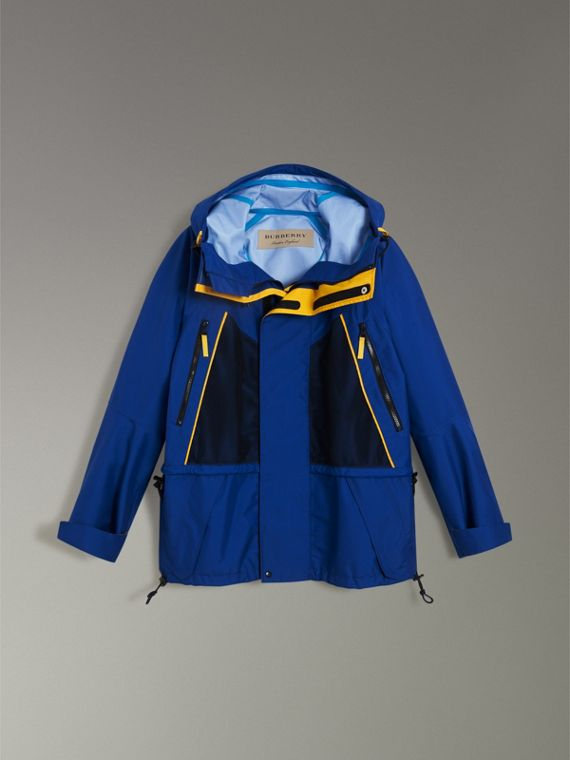 Tri-tone Nylon Hooded Jacket in Bright Navy - Men | Burberry - cell image 3