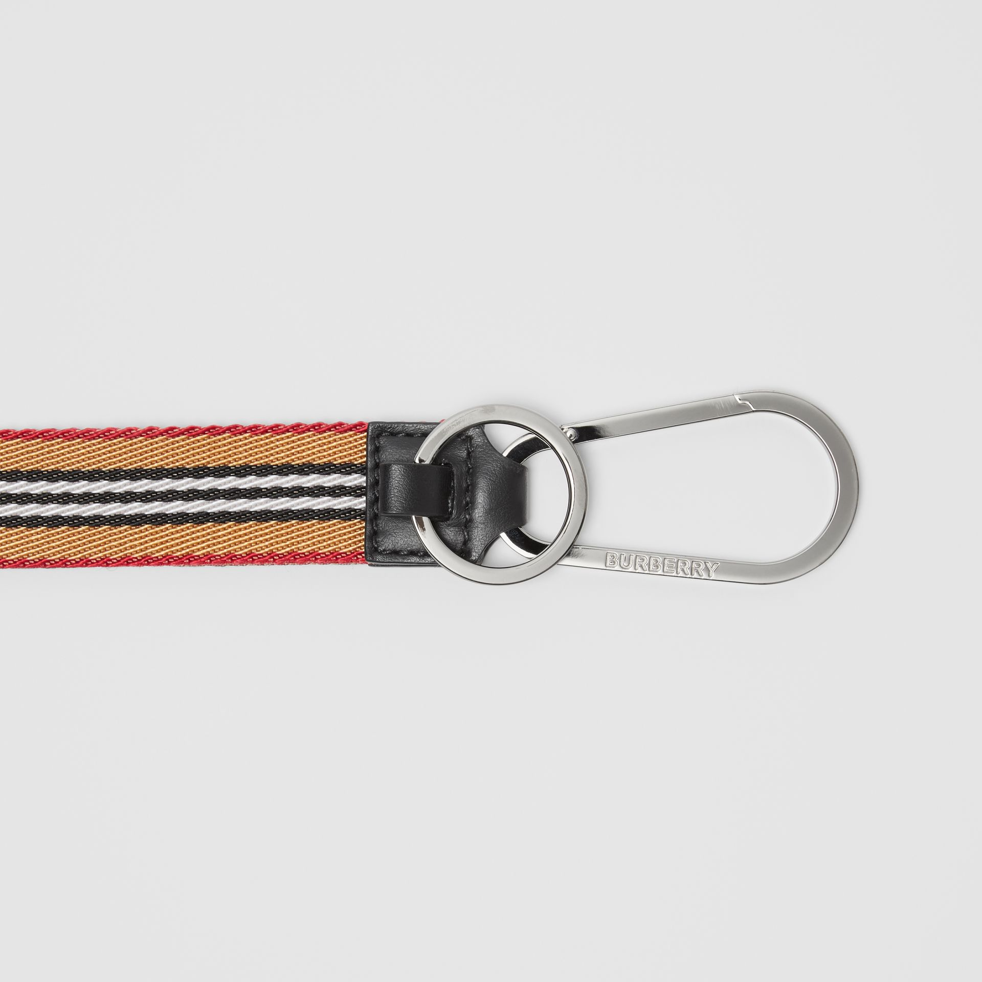 Icon Stripe Lanyard in Archive Beige - Men | Burberry - gallery image 1