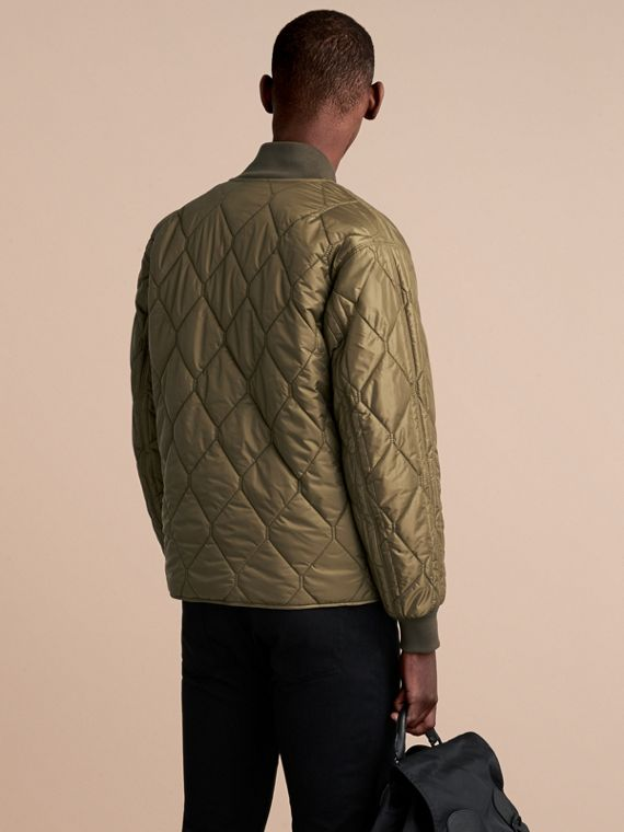 Quilted Bomber Jacket in Khaki - Men | Burberry Singapore - cell image 2