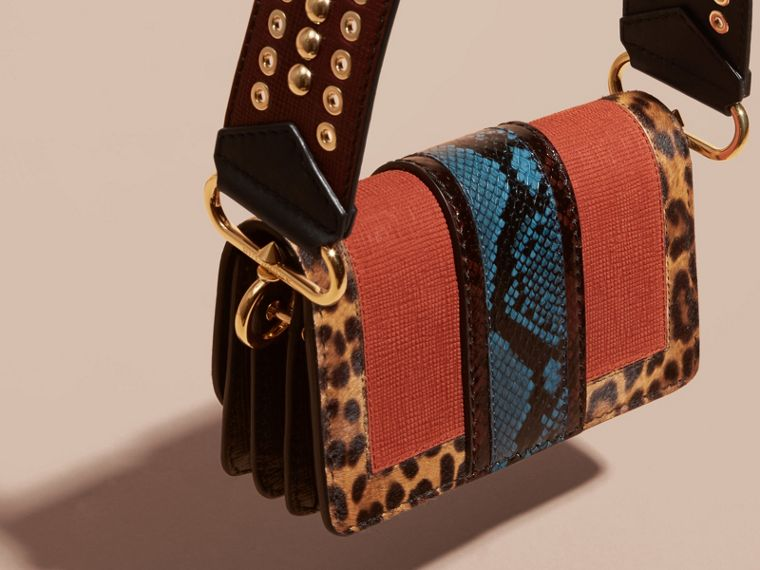 The Patchwork in Textured Suede and Leopard-print Calfskin - cell image 1