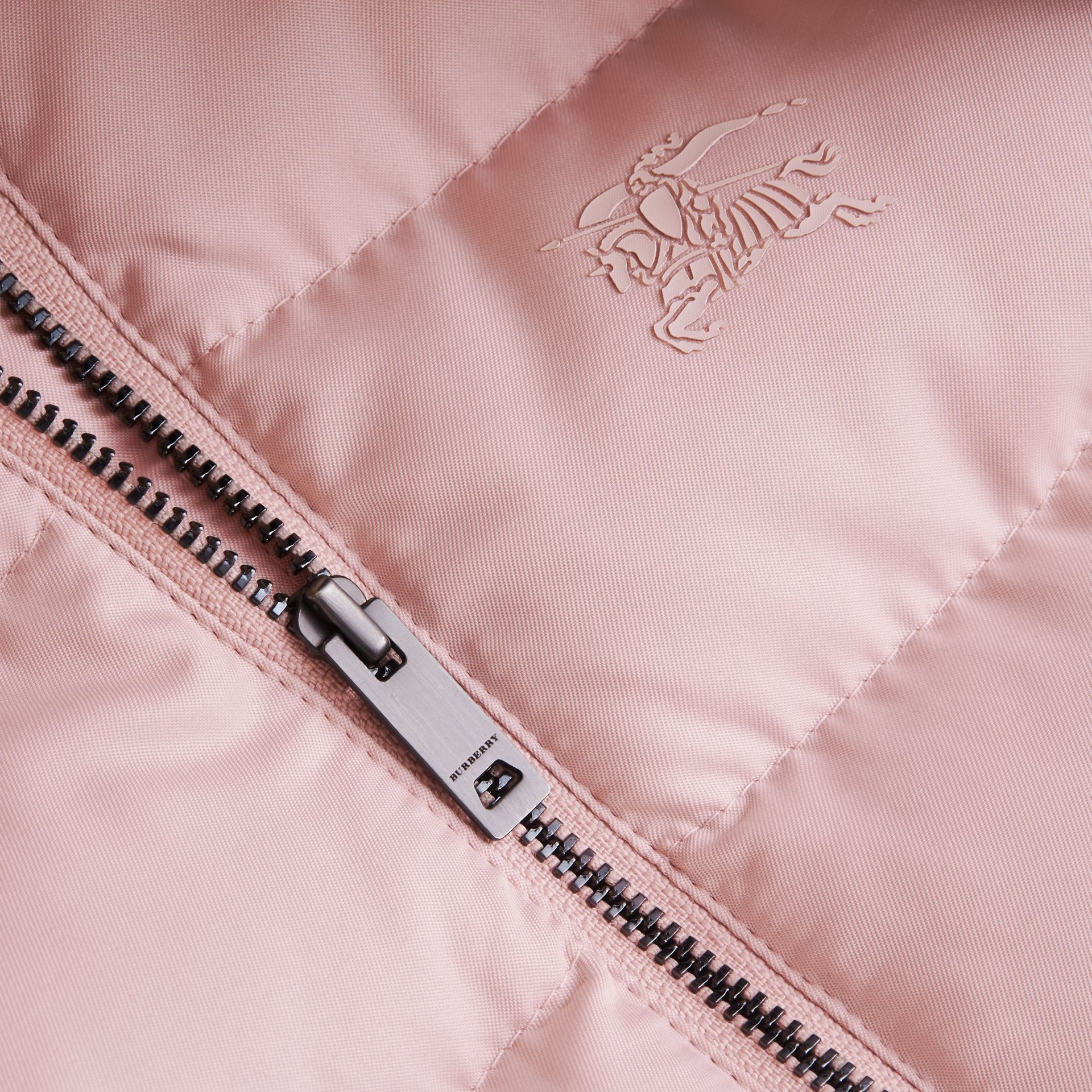 Hooded Down-filled Puffer Jacket with Mittens in Powder Pink | Burberry Canada - gallery image 2