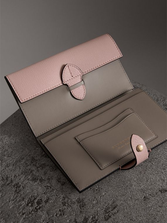 Equestrian Shield Two-tone Leather Continental Wallet in Pale Ash Rose - Women | Burberry - cell image 3