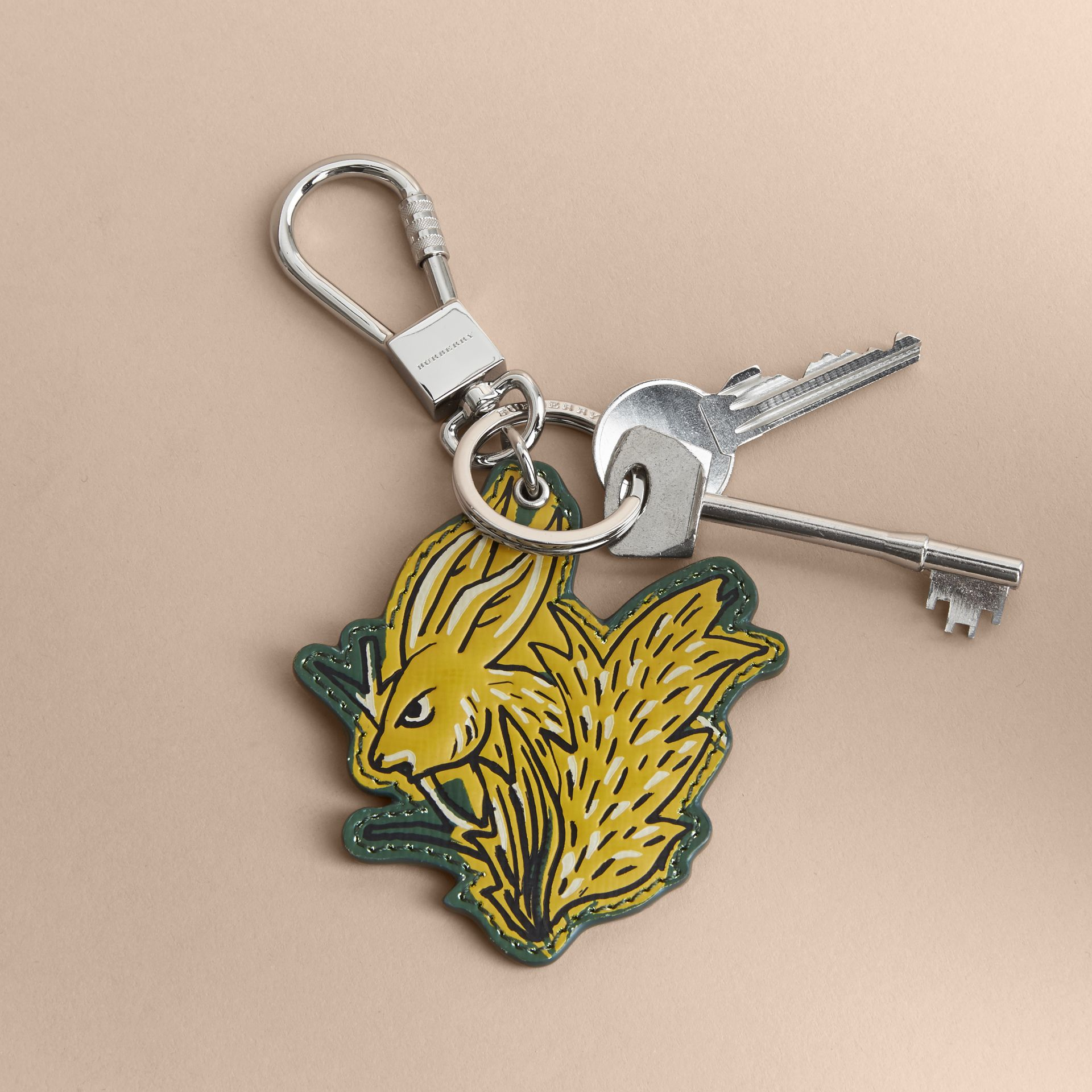 Beasts Leather Key Ring in Honey - gallery image 3