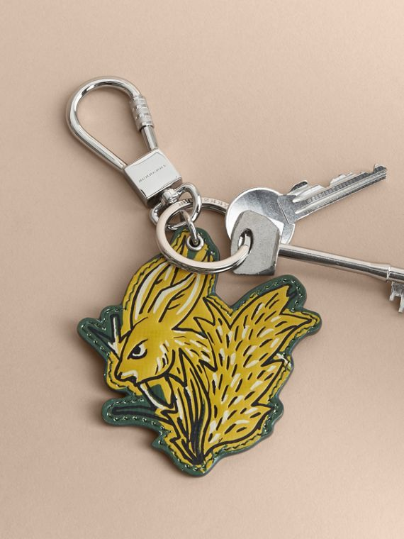 Beasts Leather Key Ring in Honey - cell image 2