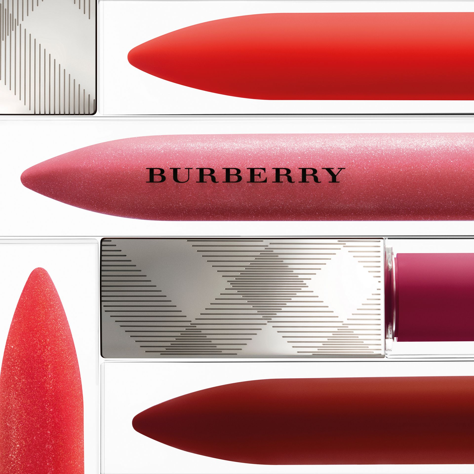 Poppy red no.113 Burberry Kisses Gloss - Poppy Red No.113 - gallery image 3