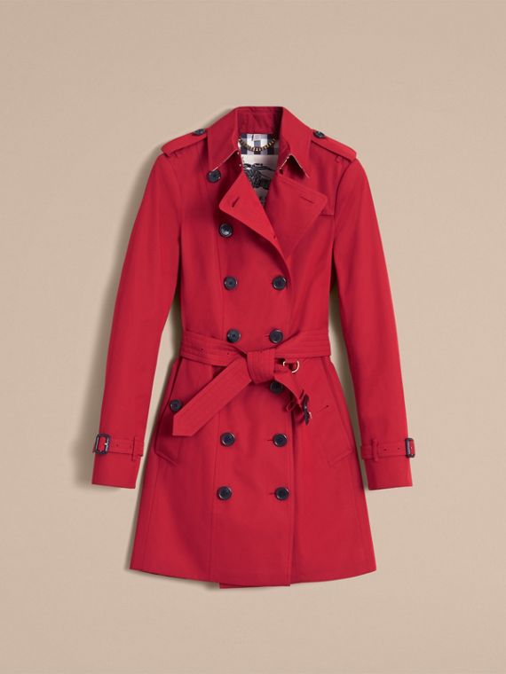 Trench coat Sandringham - Trench coat Heritage de longitud media Rojo Desfile - cell image 3