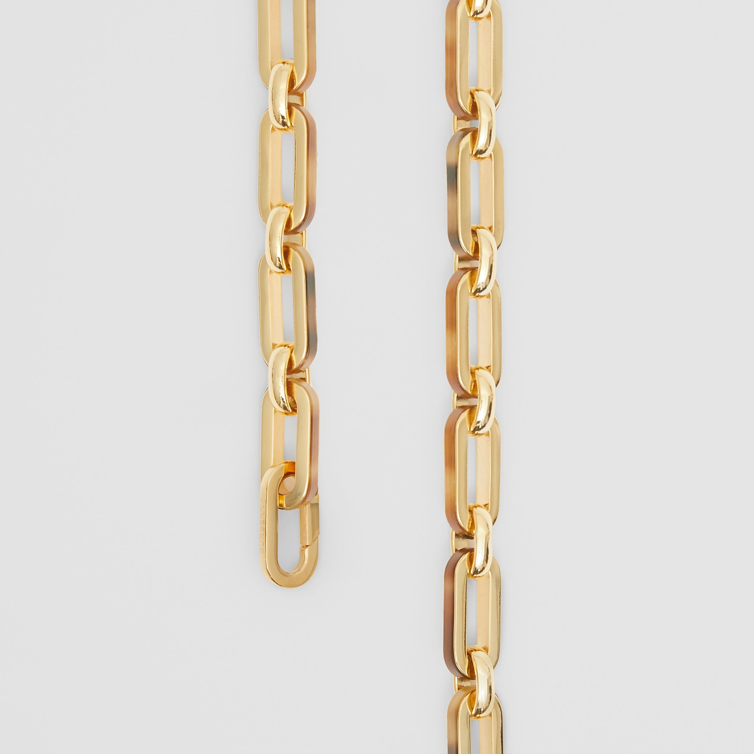 Resin and Gold-plated Chain-link Necklace in Light Gold/horn - Women | Burberry - 2