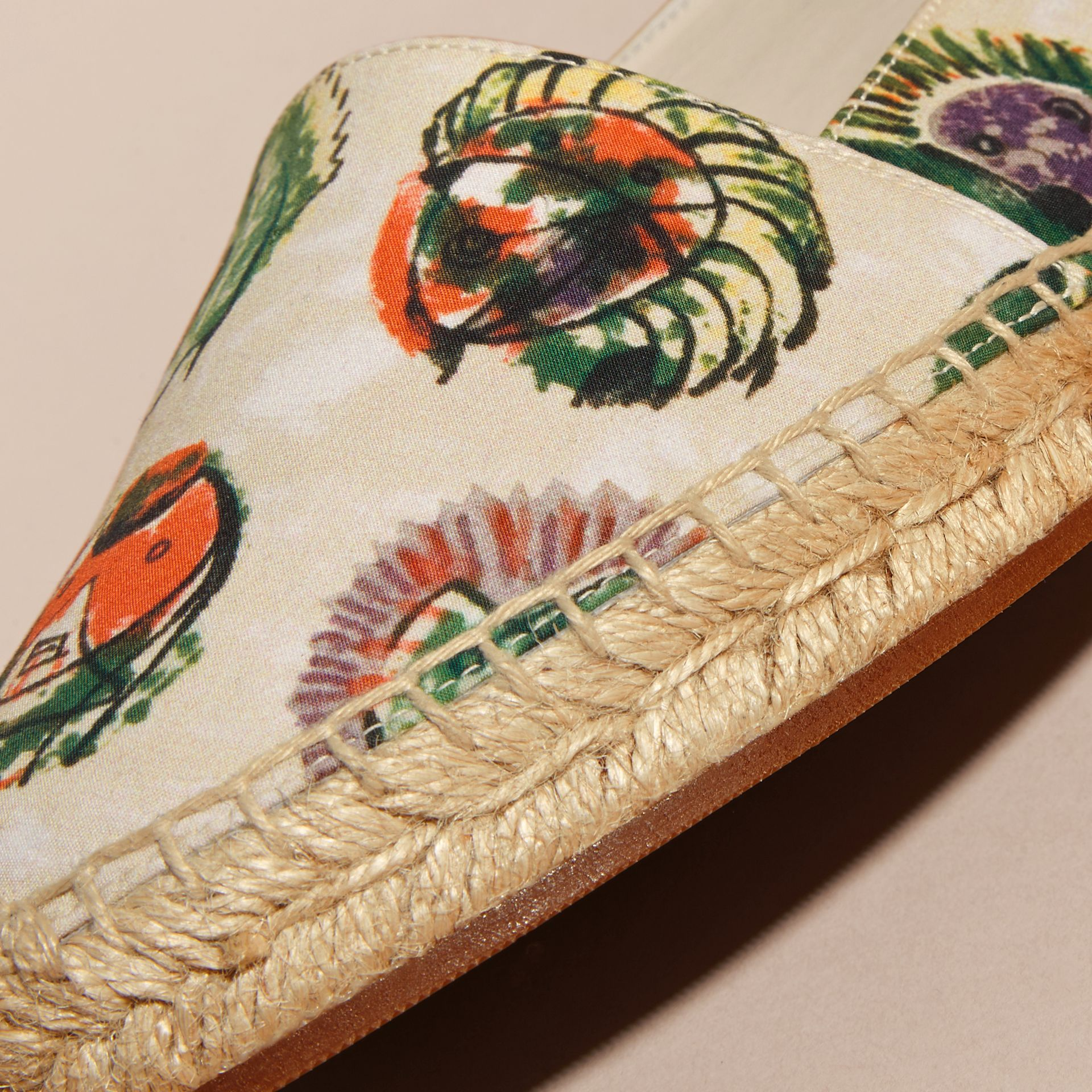 Pallas Heads Print Cotton Espadrilles - gallery image 2
