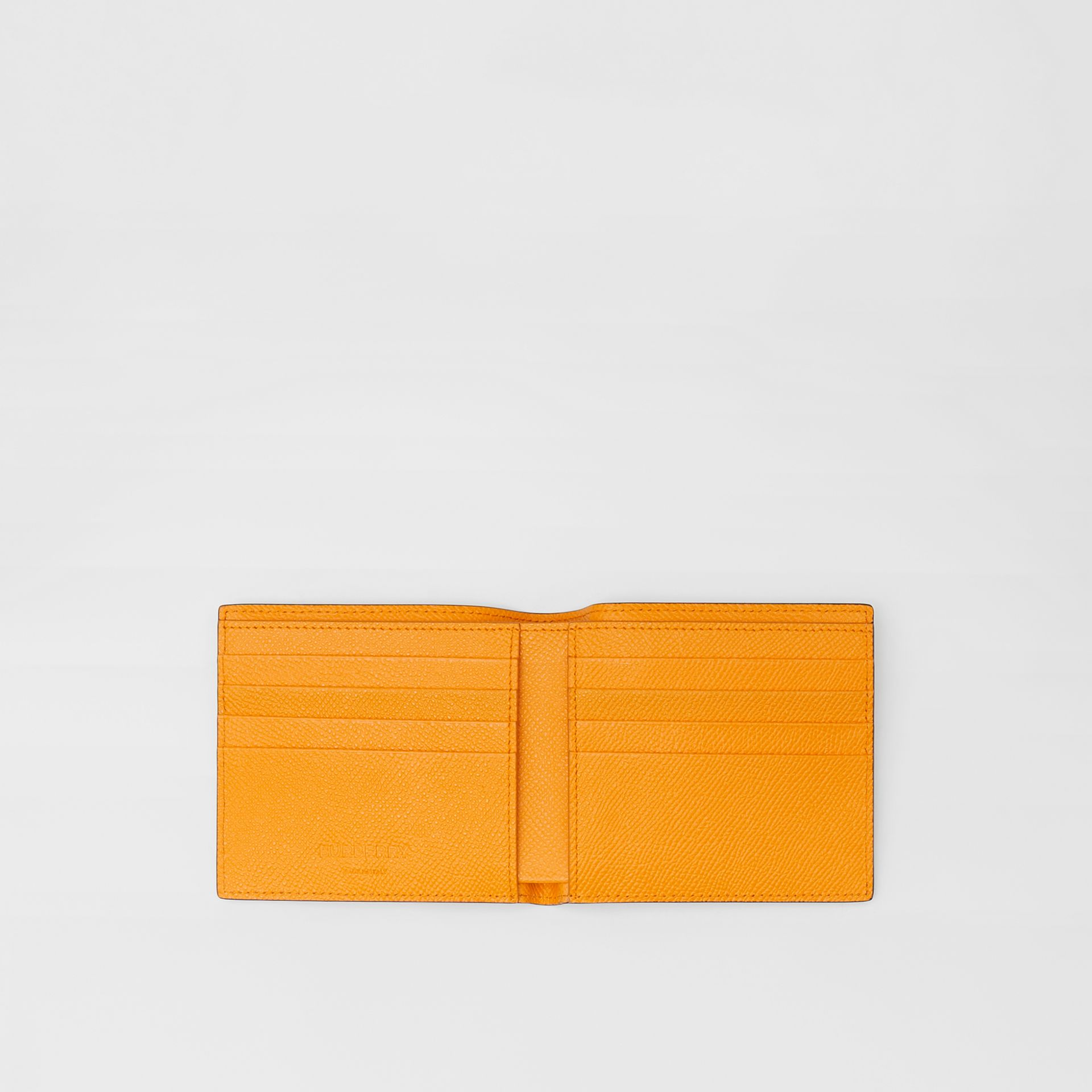 Leather International Bifold Wallet in Bright Orange - Men | Burberry - gallery image 2