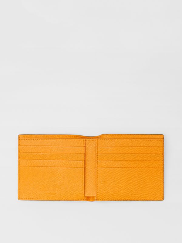 Leather International Bifold Wallet in Bright Orange - Men | Burberry Singapore - cell image 2