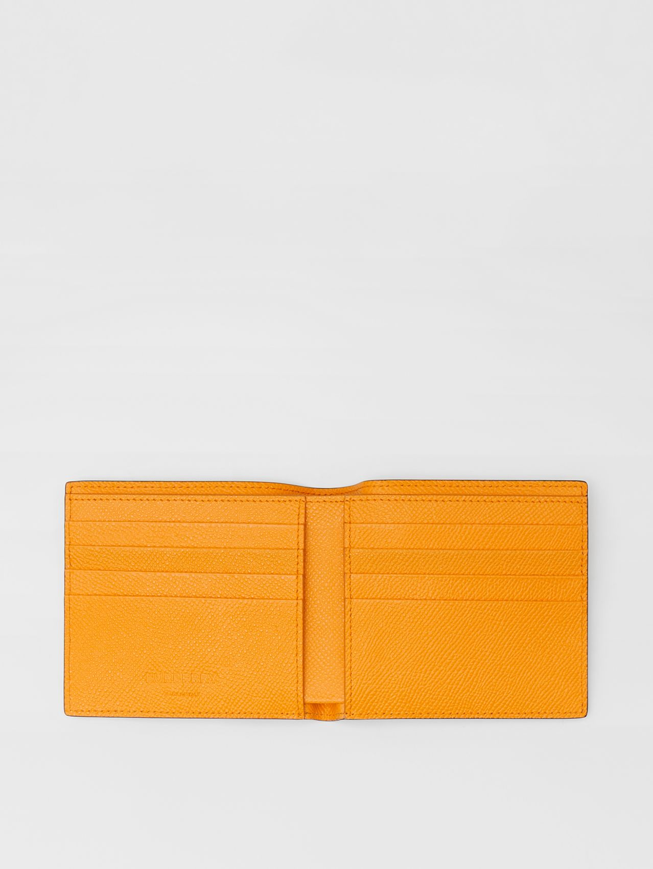 Leather International Bifold Wallet in Bright Orange