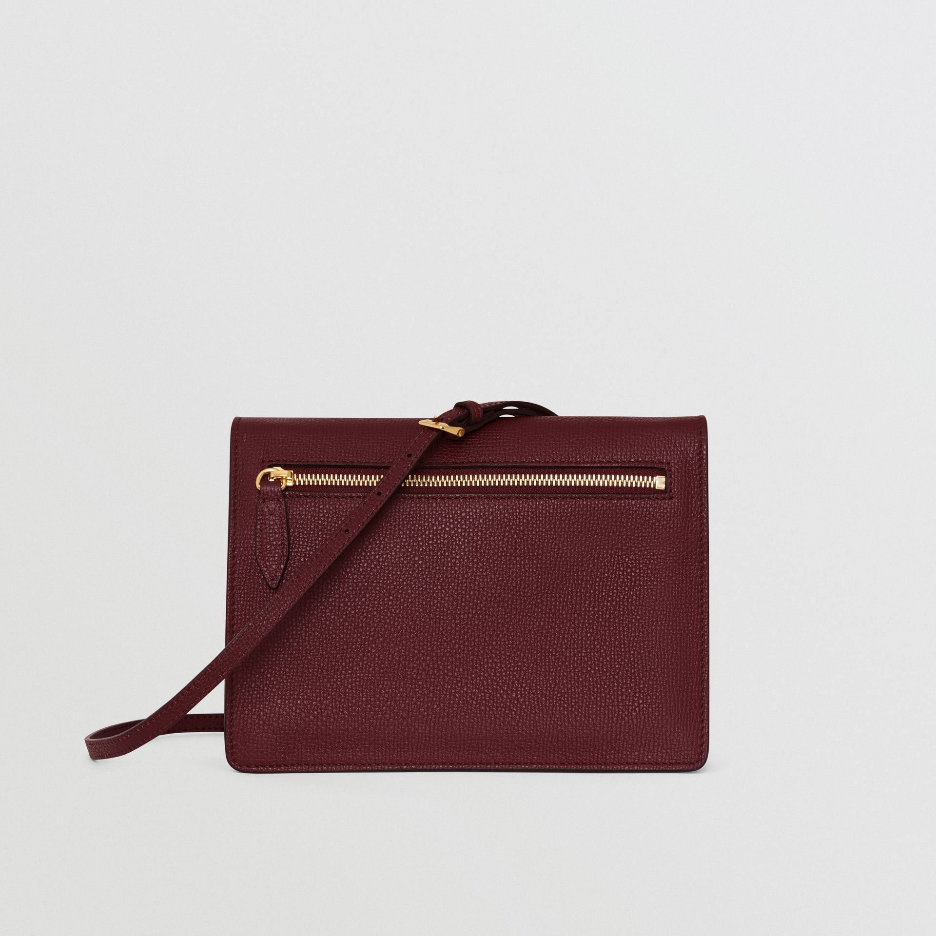 Small Leather Crossbody Bag in Mahogany Red - Women | Burberry United States - gallery image 7