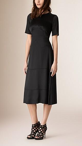 Panelled Silk Dress