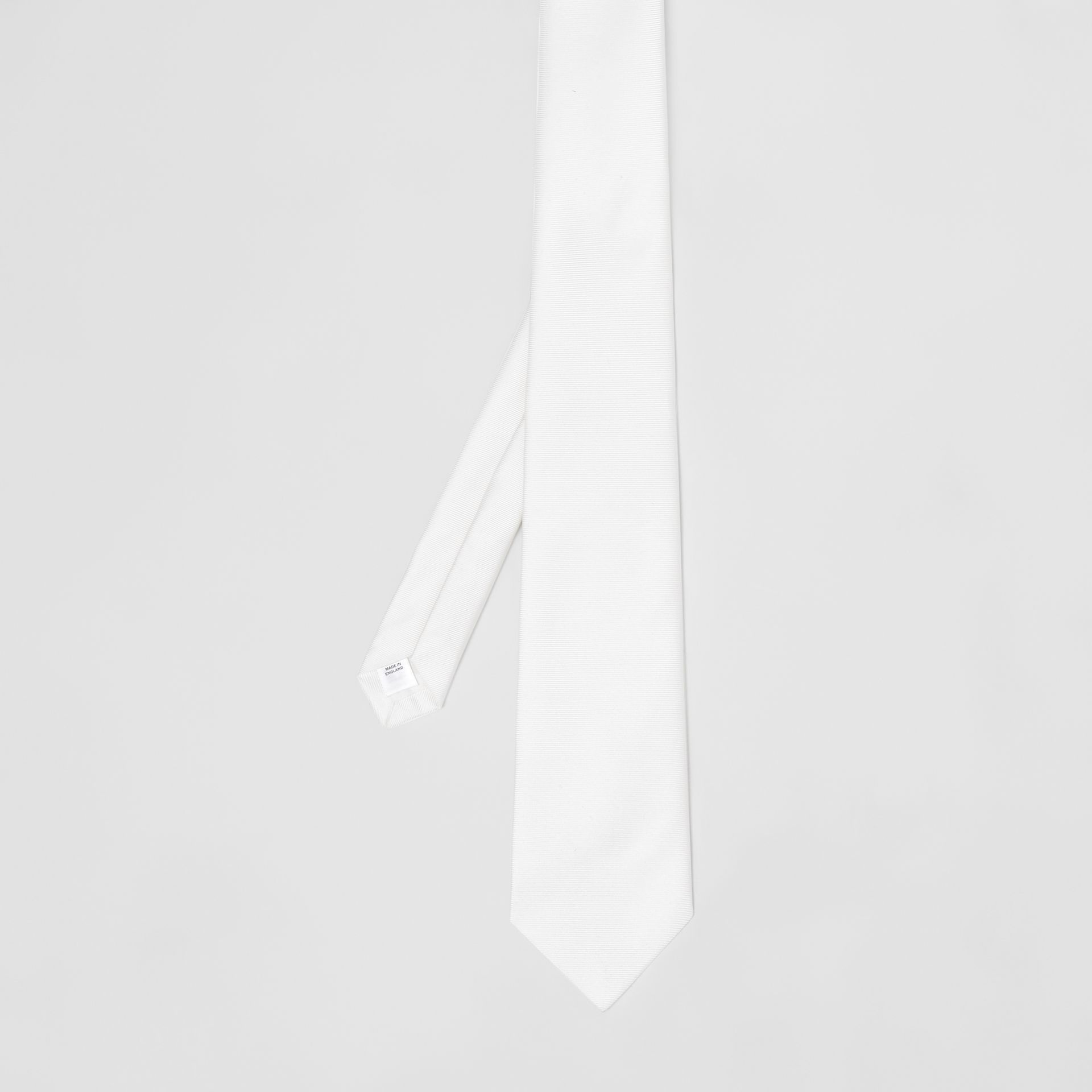 Classic Cut Silk Tie in Natural White - Men | Burberry - gallery image 3