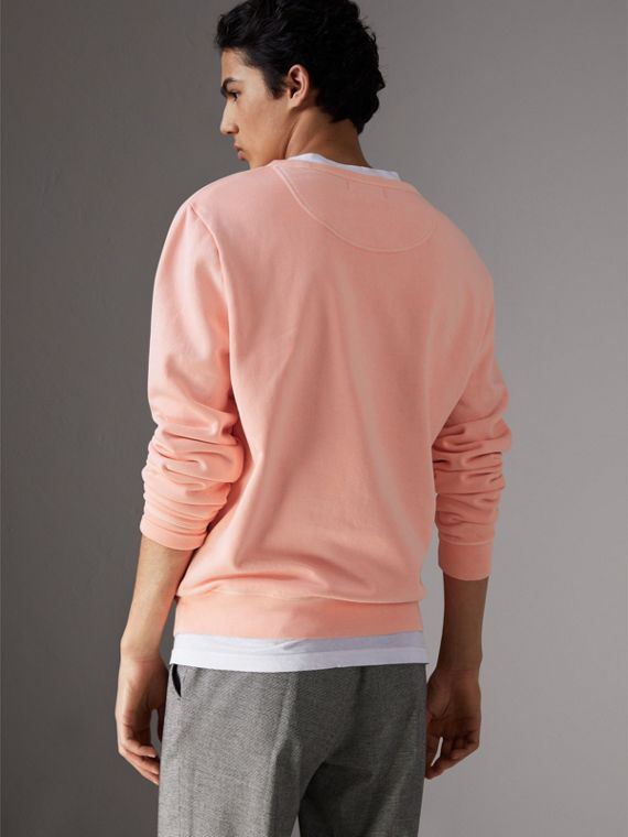 Doodle Print Cotton Sweater in Bright Clementine - Men | Burberry - cell image 2