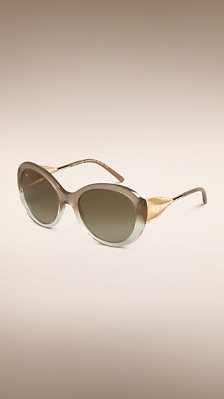 Gabardine Collection Oversize Round Frame Sunglasses