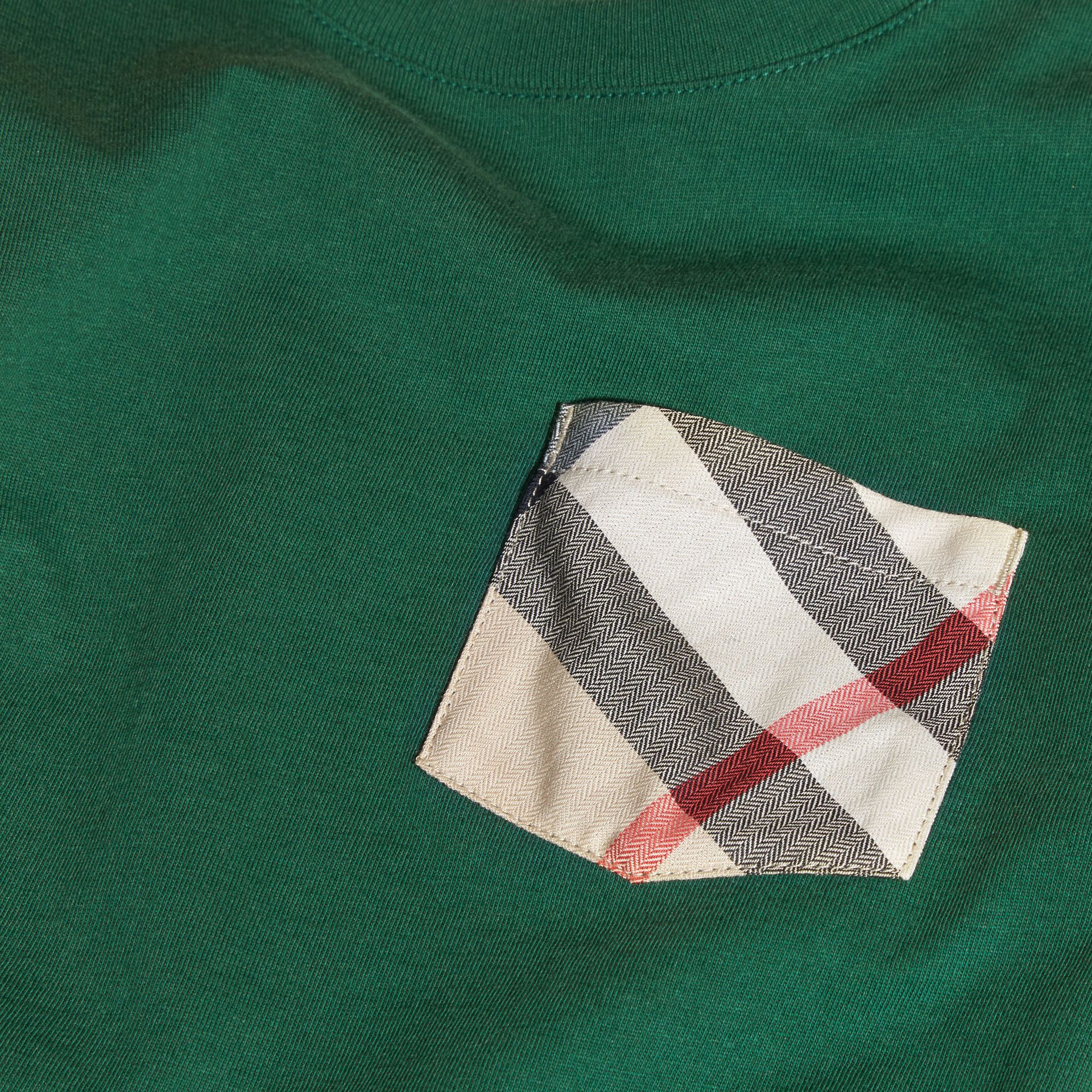 Forest green Check Pocket T-Shirt Forest Green - gallery image 2
