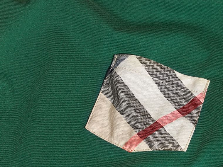 Forest green Check Pocket T-Shirt Forest Green - cell image 1