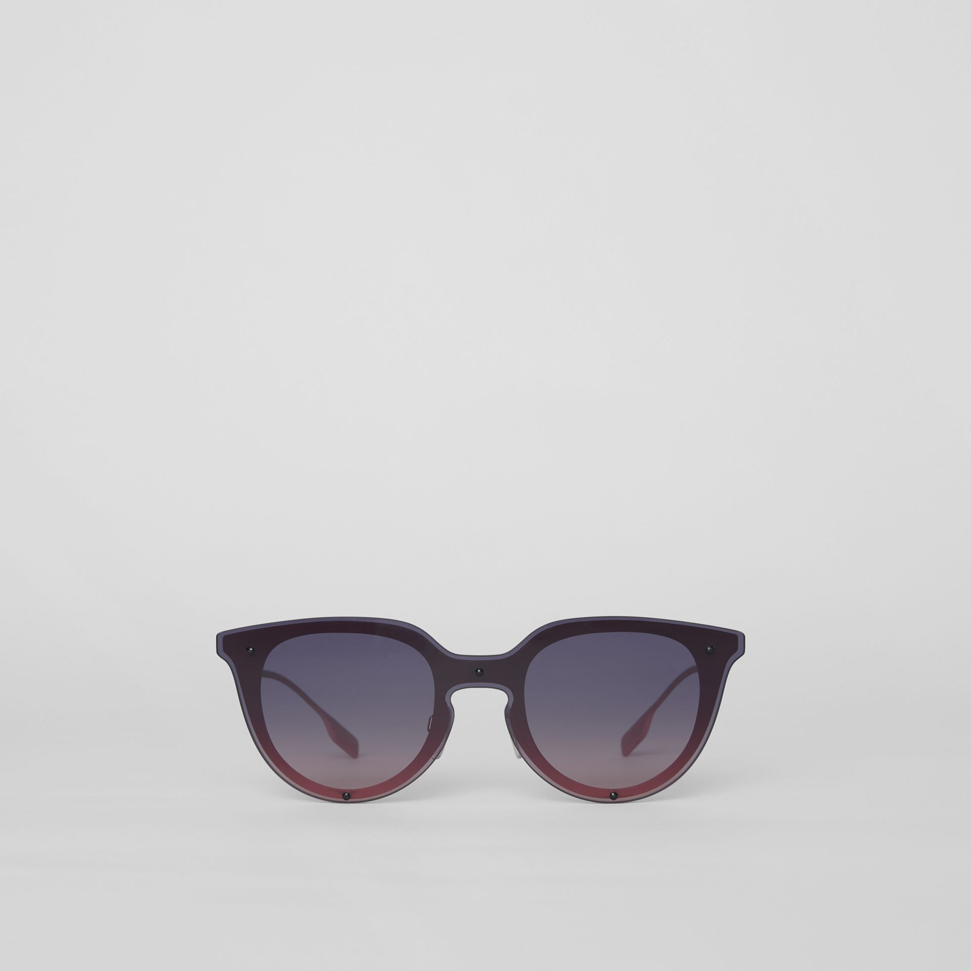 Keyhole Round Frame Shield Sunglasses in Pink - Women | Burberry - gallery image 0