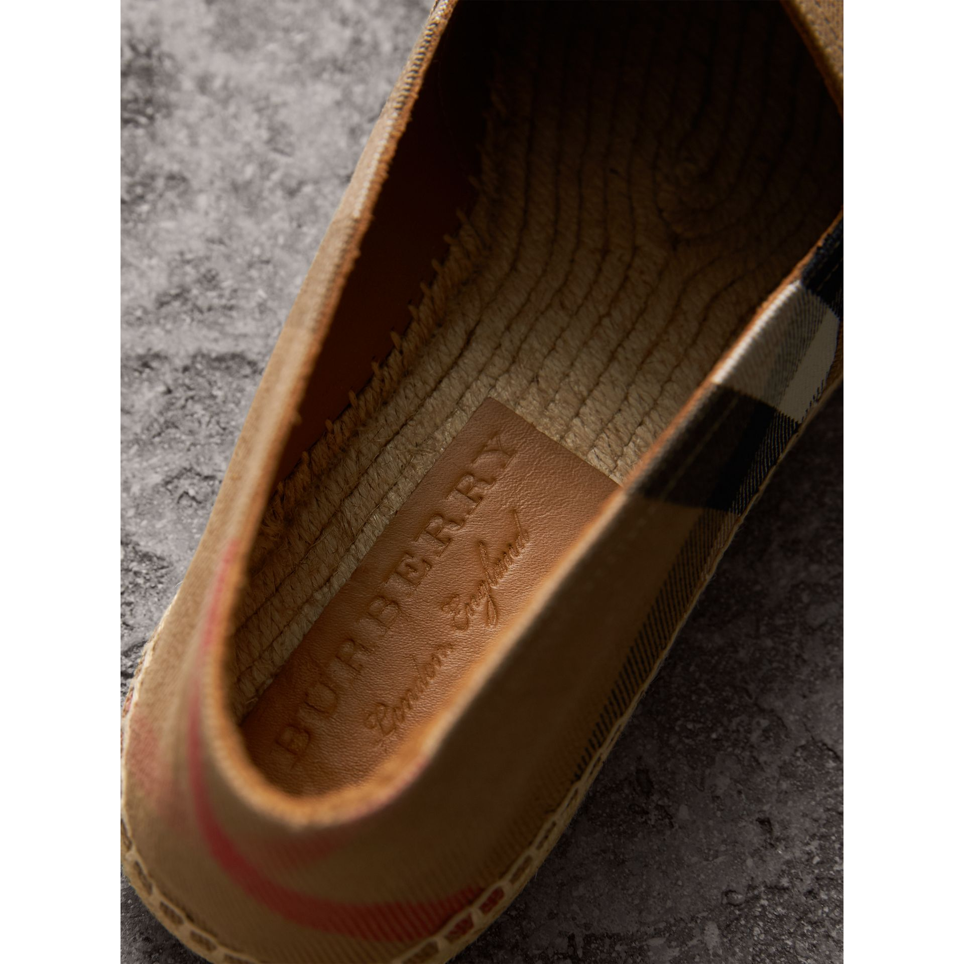 Canvas Check Espadrilles in Classic - Men | Burberry - gallery image 2