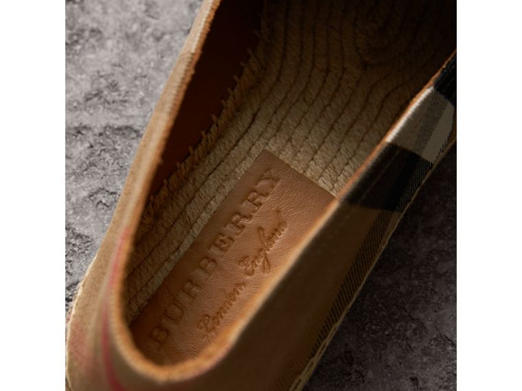 Canvas Check Espadrilles in Classic - Men | Burberry - cell image 1