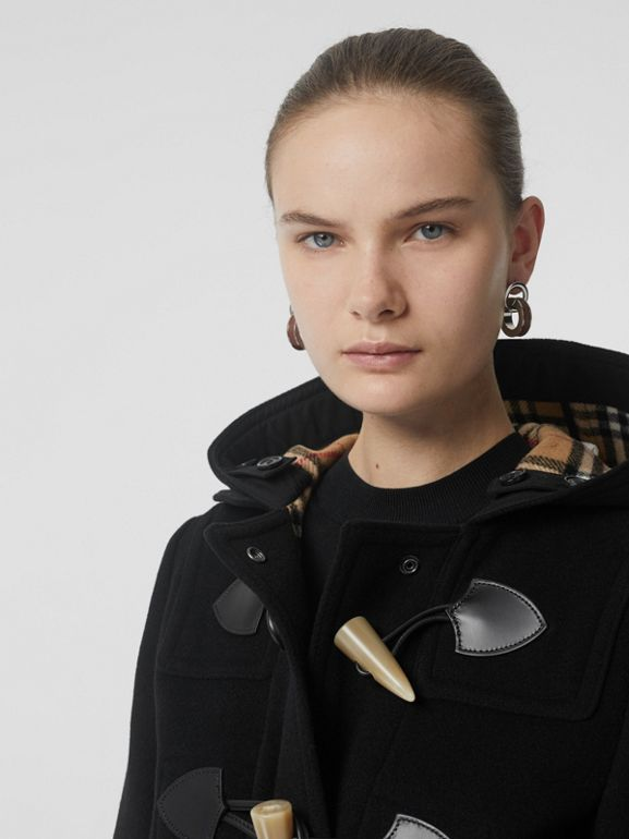 Wool Blend Duffle Coat in Black - Women | Burberry United Kingdom - cell image 1