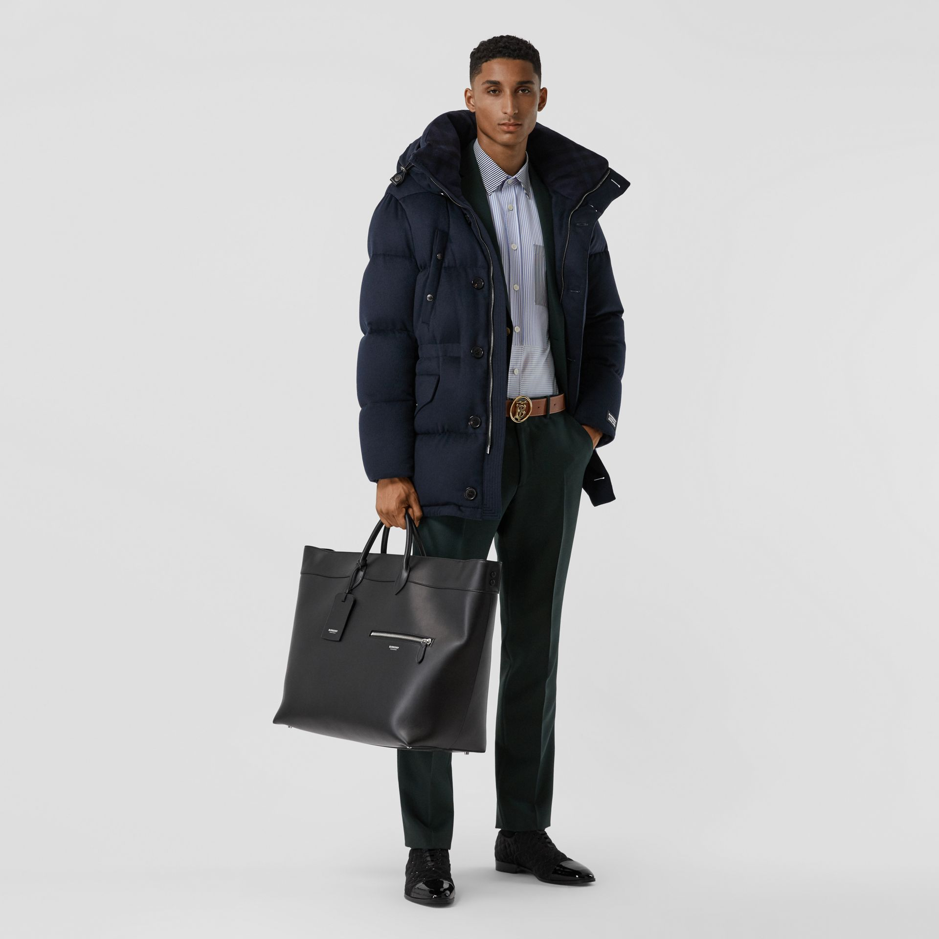 Leather Holdall in Black - Men | Burberry Australia - gallery image 5