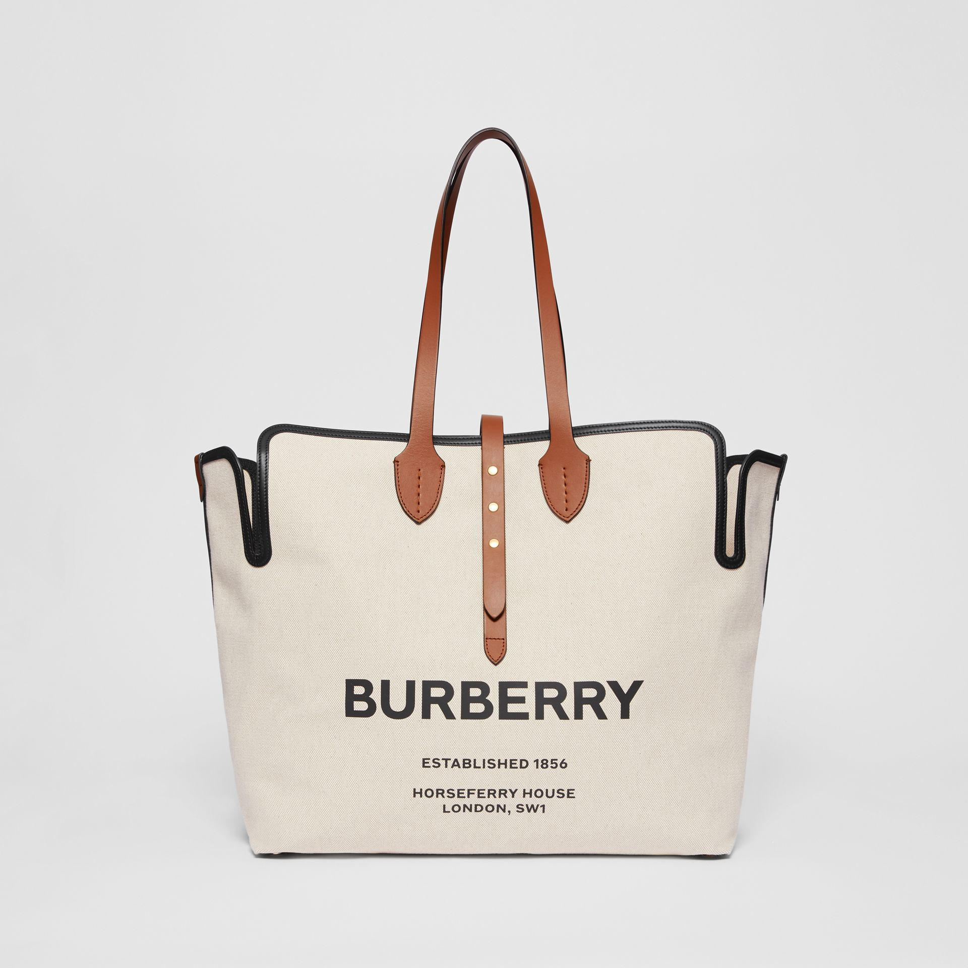 The Large Soft Cotton Canvas Belt Bag in Malt Brown - Women | Burberry - gallery image 0