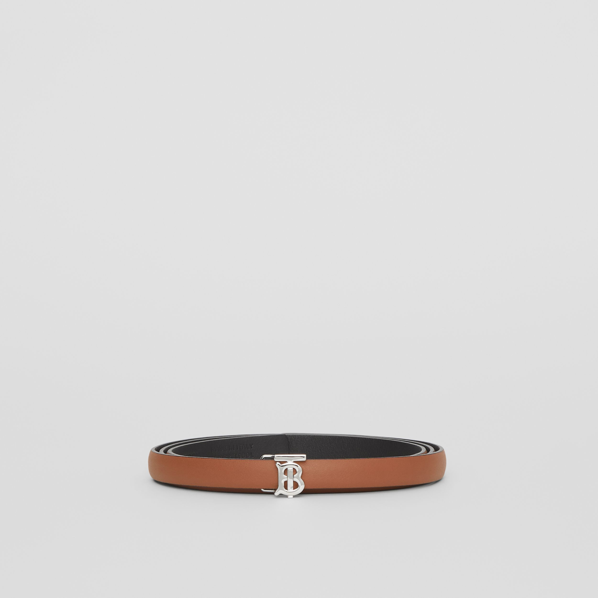 Reversible Monogram Motif Leather Wrap Belt in Malt Brown/black - Women | Burberry Australia - 4