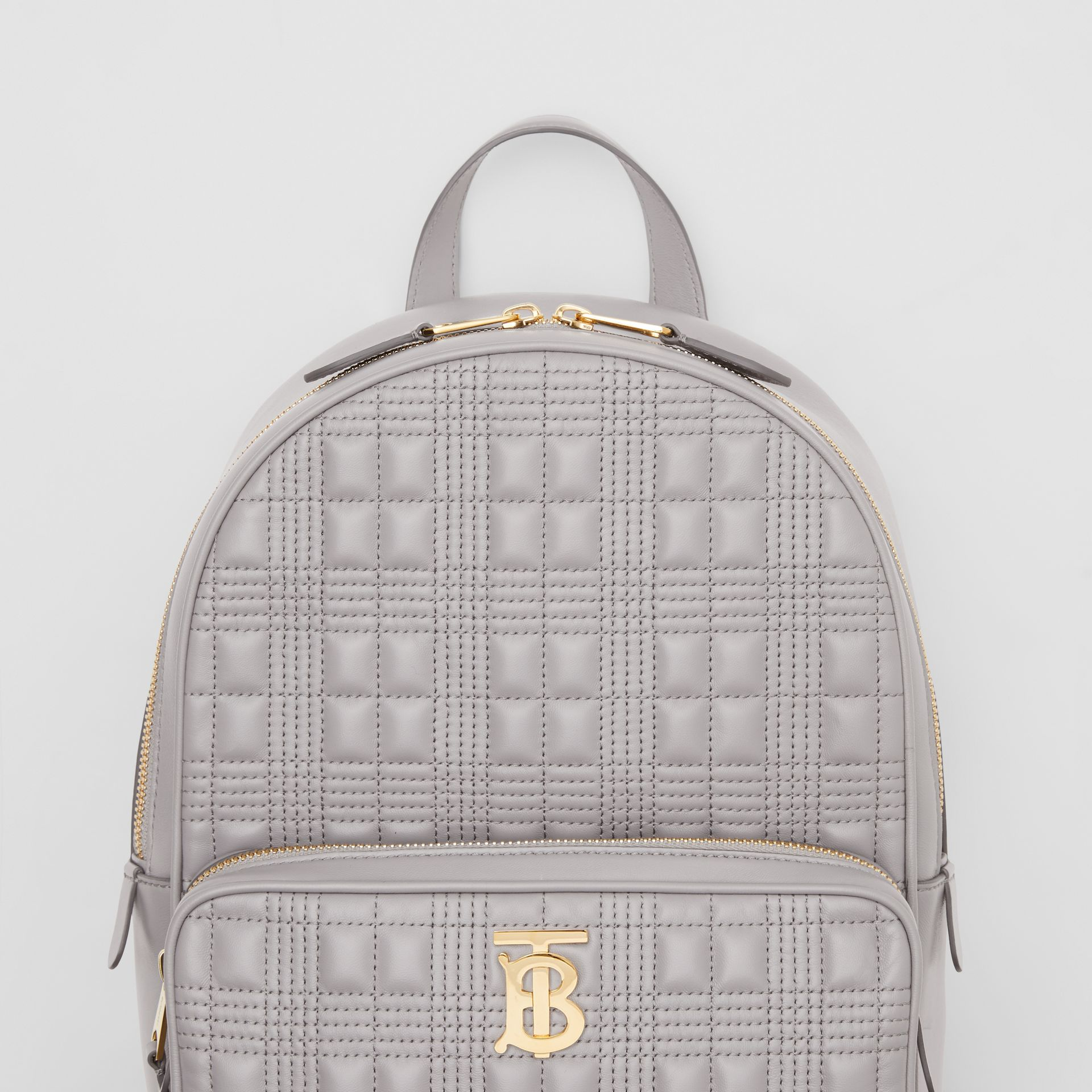 Quilted Lambskin Backpack in Cloud Grey - Women | Burberry United States - gallery image 1