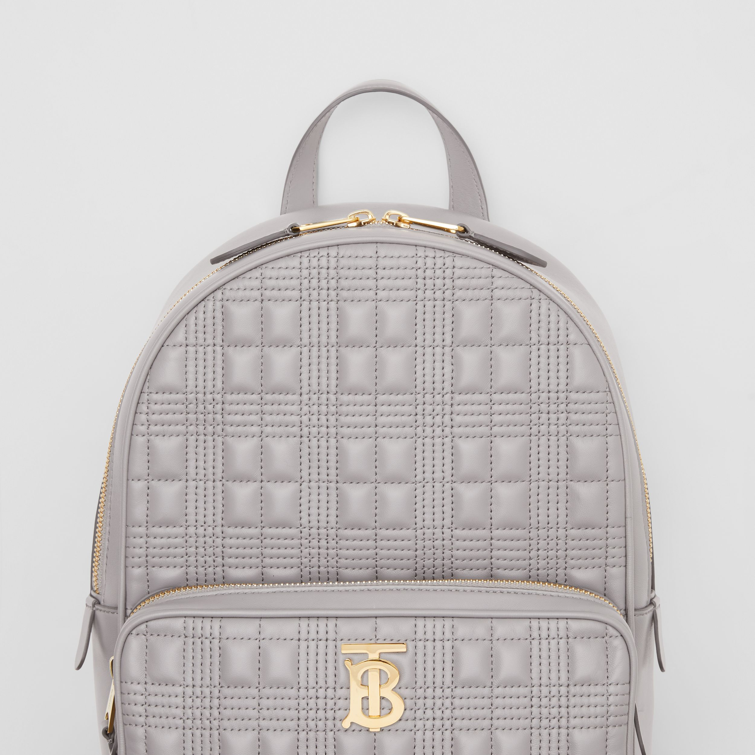 Quilted Lambskin Backpack in Cloud Grey - Women | Burberry - 2