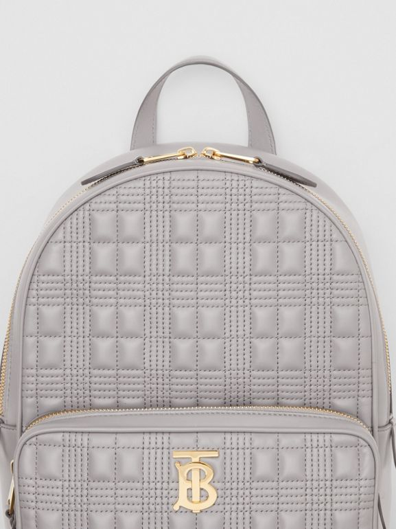 Quilted Lambskin Backpack in Cloud Grey - Women | Burberry United States - cell image 1