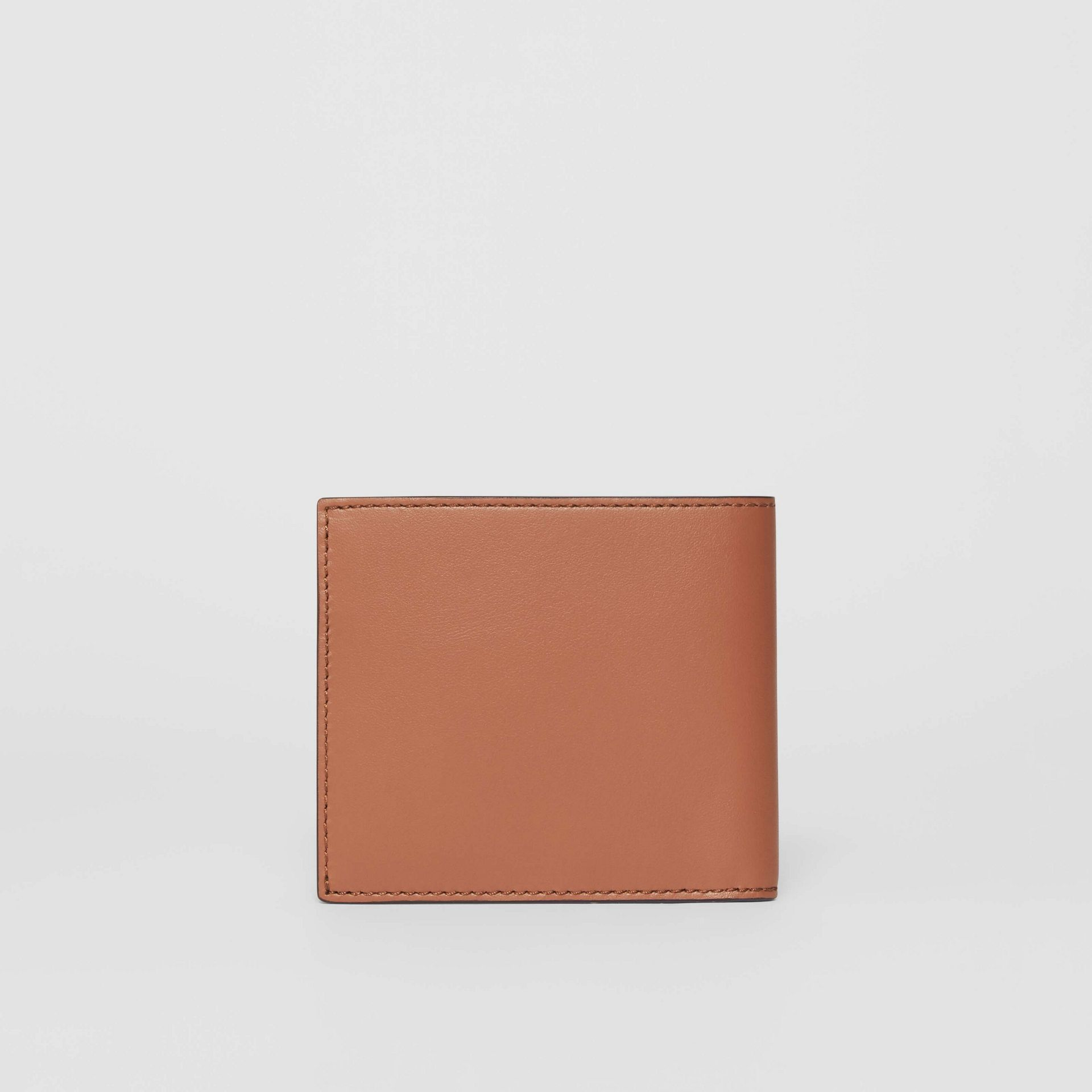 Horseferry Print Leather International Bifold Wallet in Malt Brown - Men | Burberry - gallery image 4