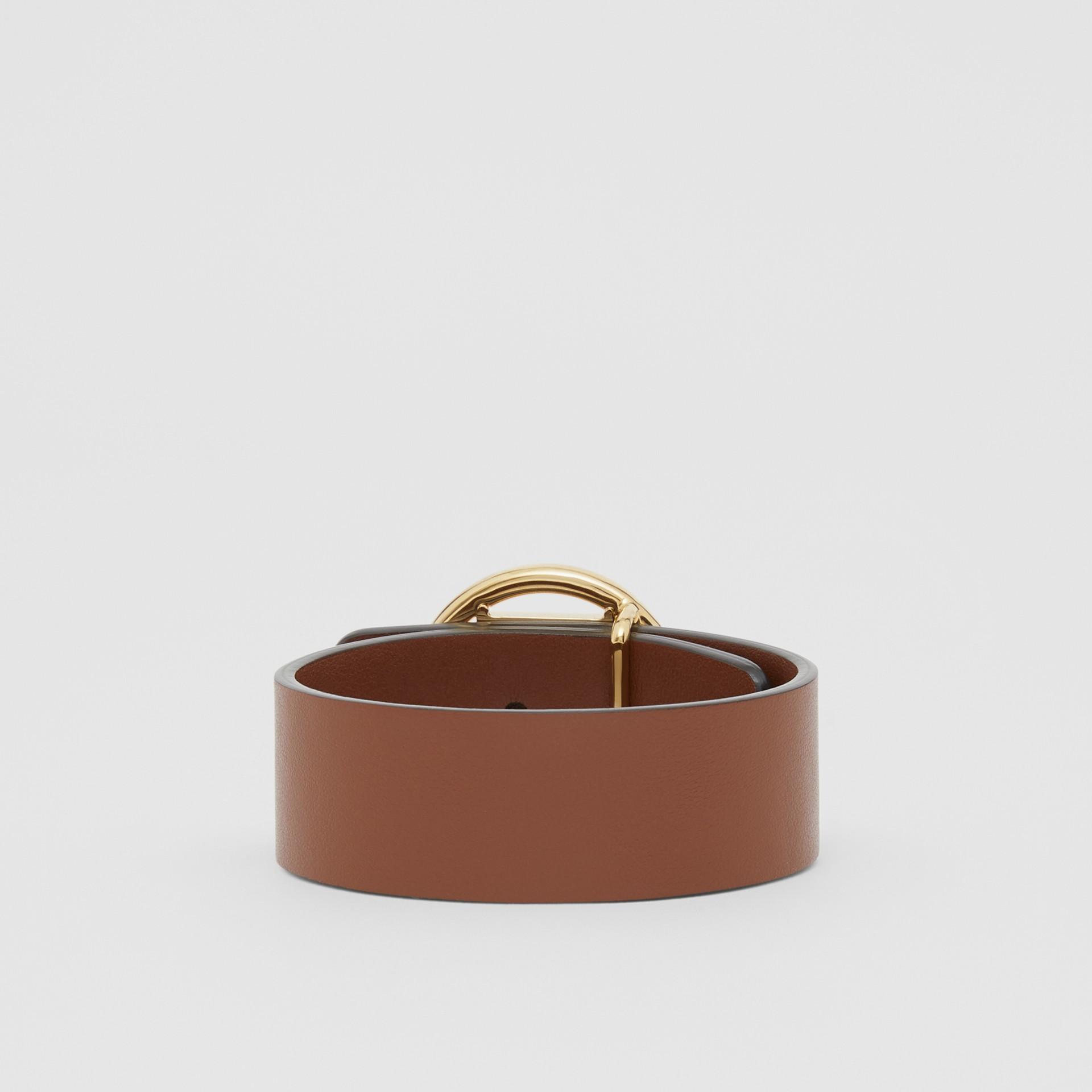 Monogram Motif Leather Bracelet in Tan - Women | Burberry - gallery image 2