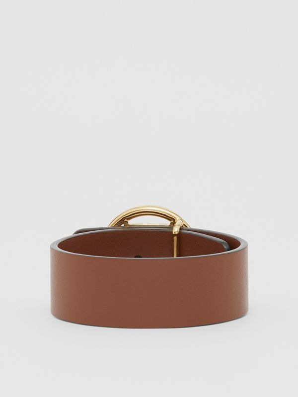 Monogram Motif Leather Bracelet in Tan - Women | Burberry United Kingdom - cell image 2