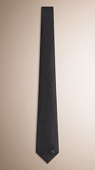 Modern Cut Patterned Silk Wool Tie