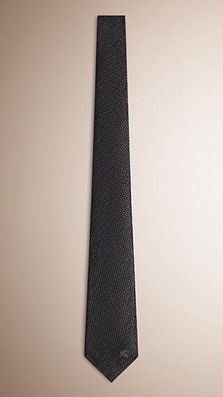Cravate moderne en soie et laine à motif