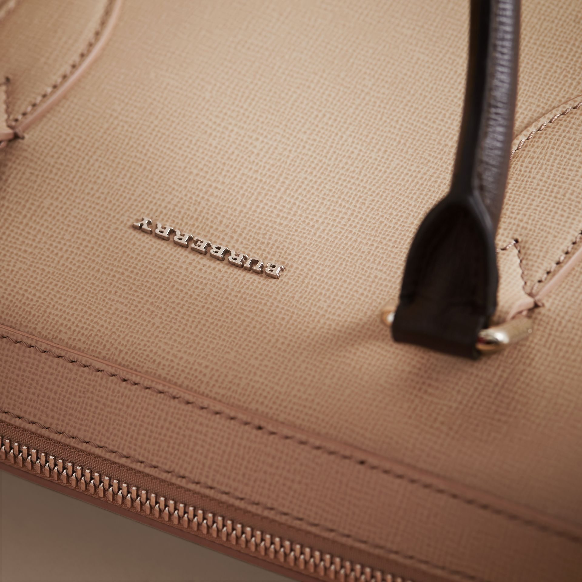 London Leather Briefcase in Honey/bitter Chocolate - Men | Burberry - gallery image 7