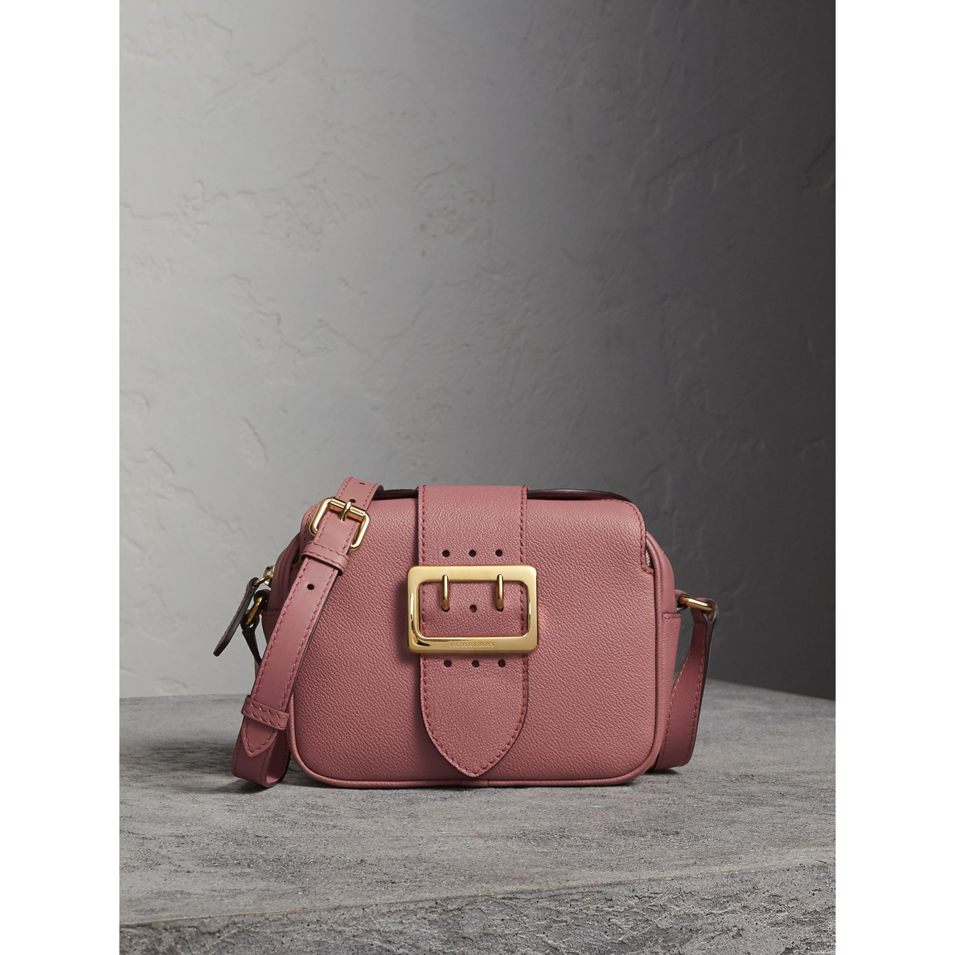 The Small Buckle Crossbody Bag in Leather in Dusty Pink - Women | Burberry - gallery image 1