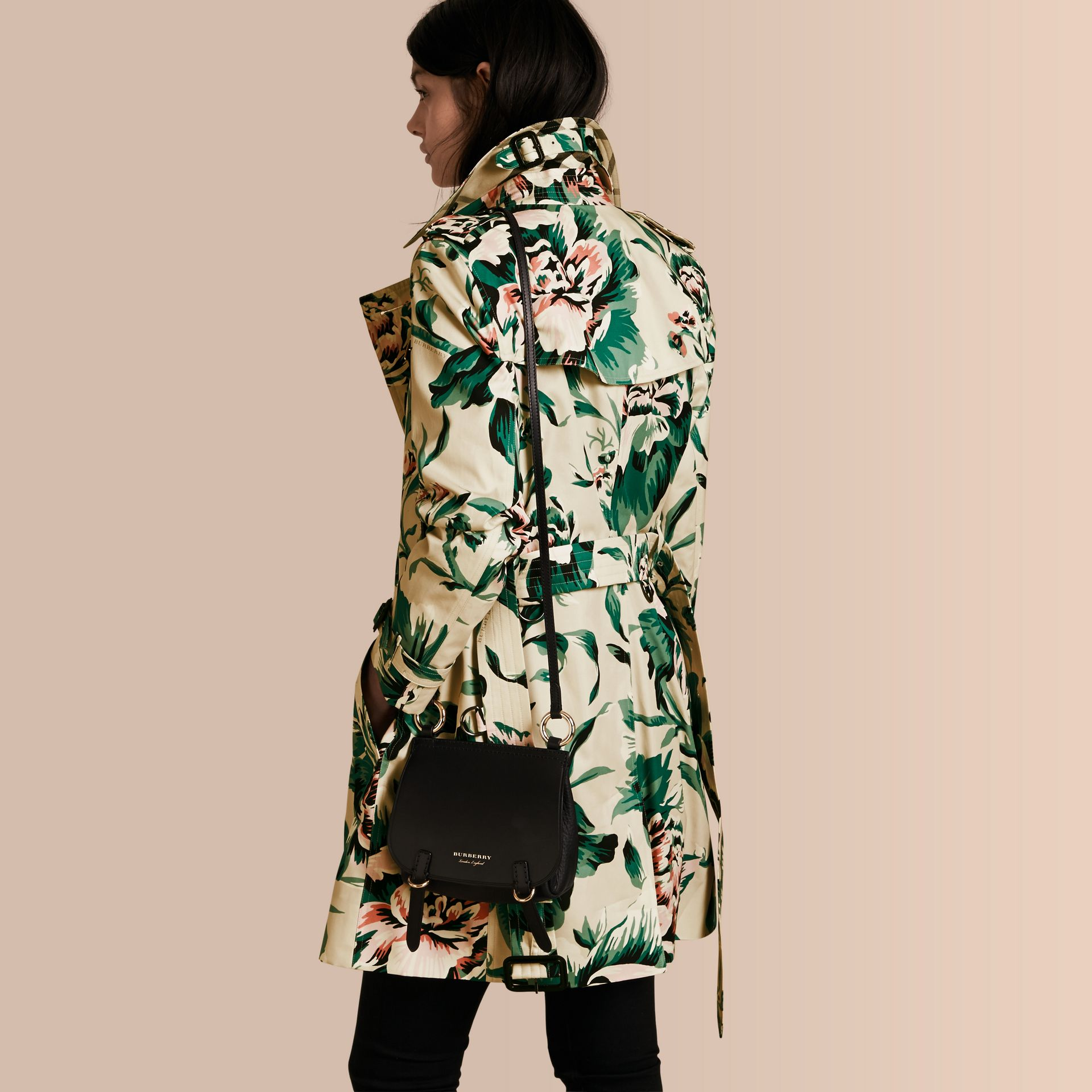 Peony Rose Print Cotton Trench Coat - Women | Burberry - gallery image 3