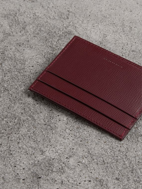 London Leather Card Case in Burgundy Red - Men | Burberry Hong Kong - cell image 2