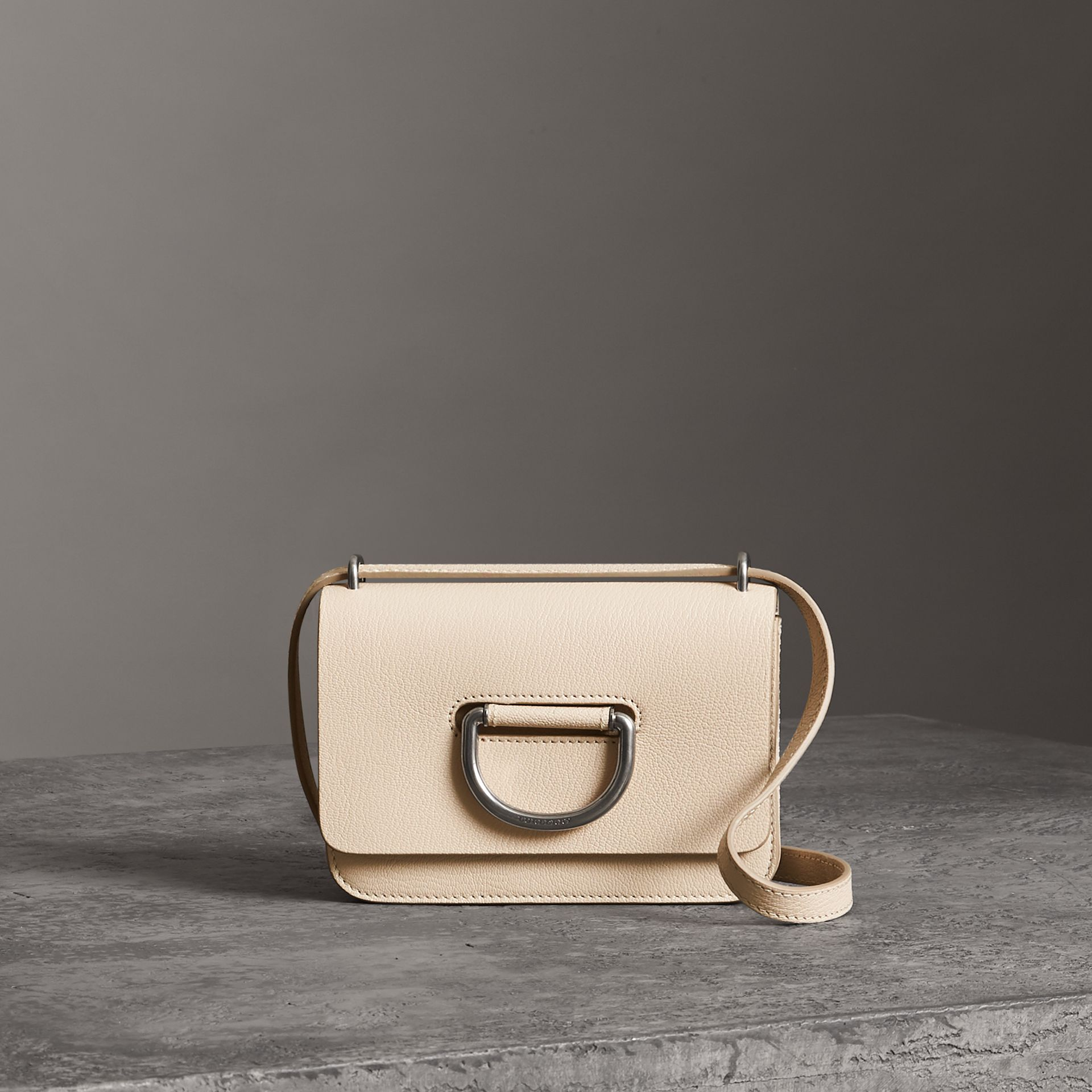 The Mini Leather D-ring Bag in Stone - Women | Burberry - gallery image 0
