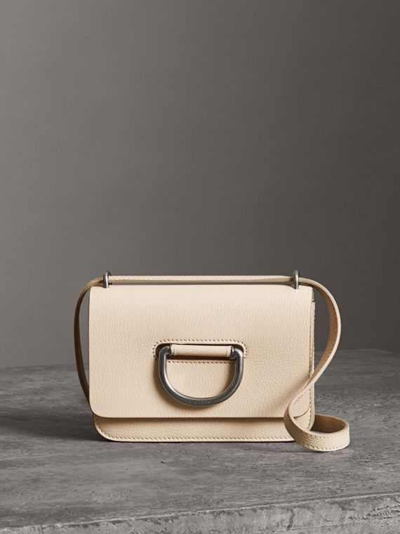 The Mini Leather D-Ring Bag in Stone