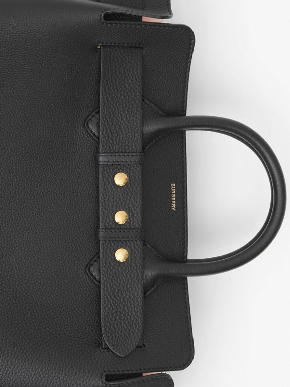 Borsa The Belt media in pelle con tre borchie (Nero/rosa Alabastro) - Donna | Burberry - cell image 1