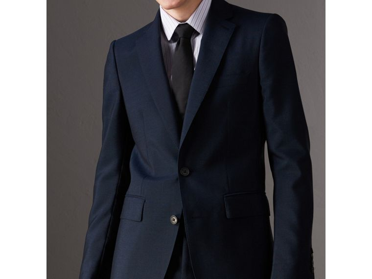 Modern Cut Silk Tie in Black - Men | Burberry Canada - cell image 2