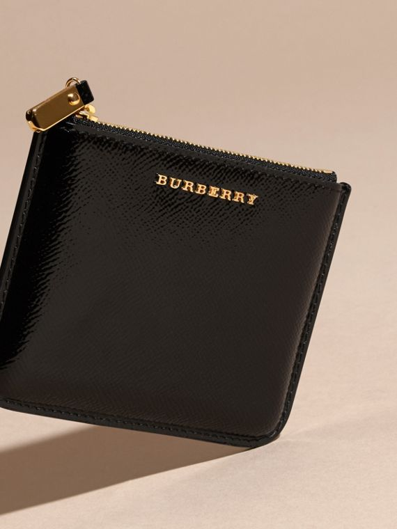 Pochette en cuir London verni - Femme | Burberry - cell image 2