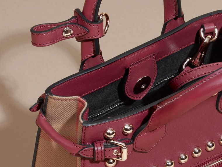 Garnet pink The Baby Banner in Studded Leather and House Check - cell image 4