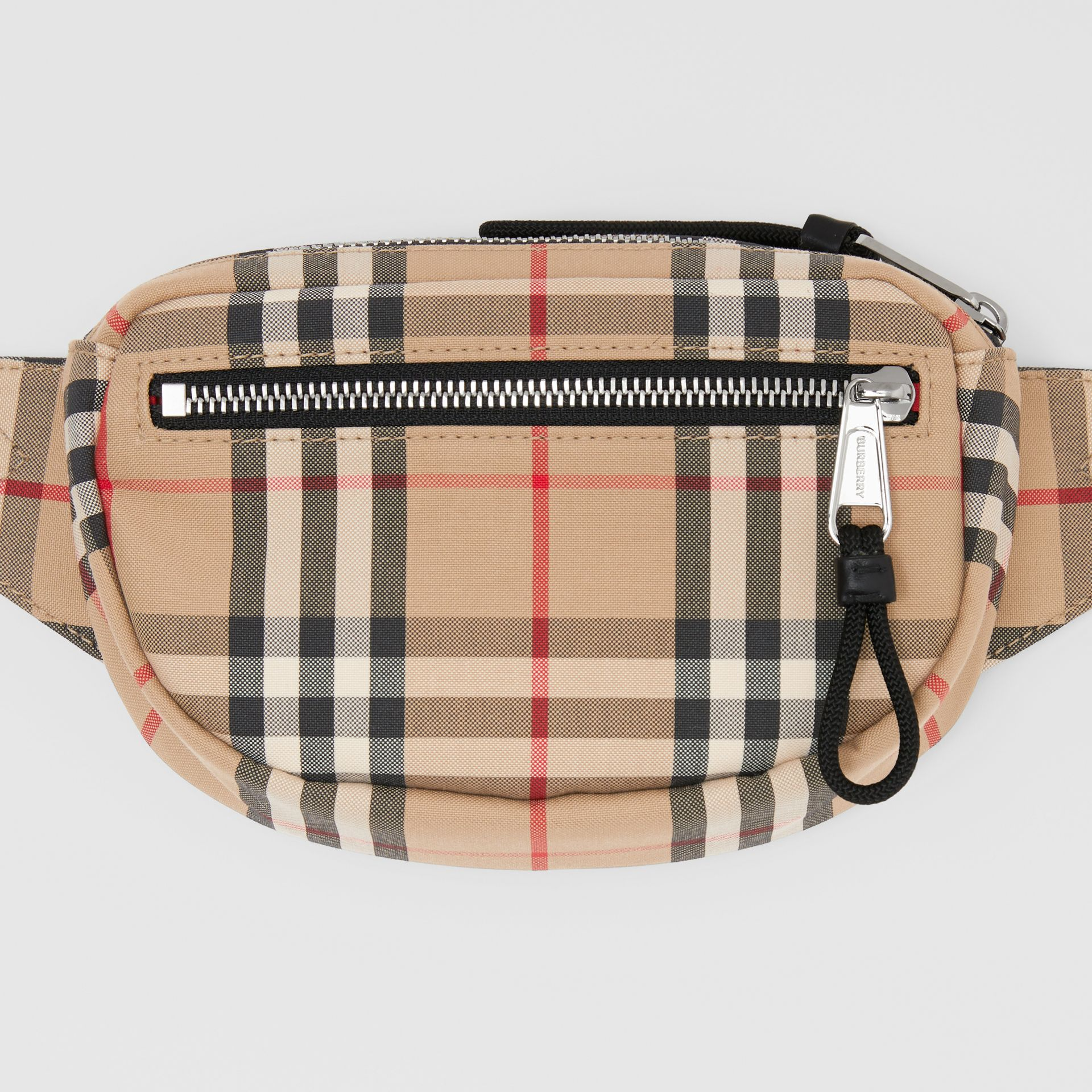 Small Vintage Check Cannon Bum Bag in Archive Beige | Burberry United Kingdom - gallery image 8