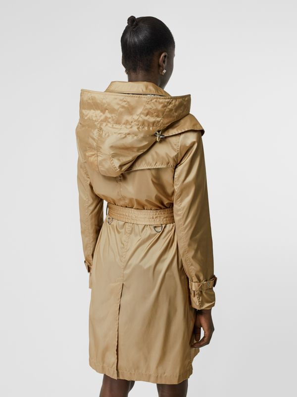 Detachable Hood ECONYL® Trench Coat in Honey - Women | Burberry - cell image 2