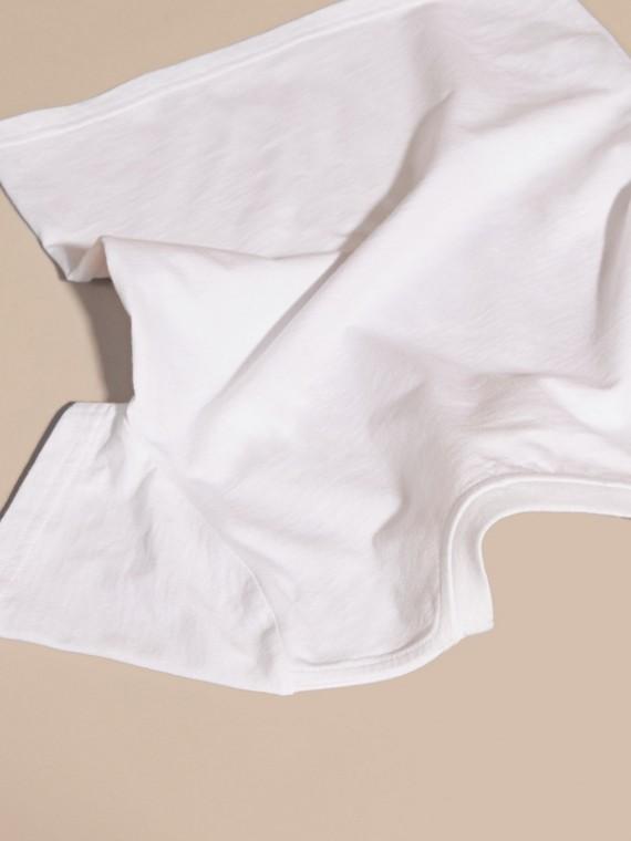 White Heart Print Cotton T-Shirt White - cell image 3